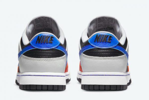 Latest NBA x Nike Dunk Low EMB Knicks Black Racer Blue-Grey Fog-Orange 2021 For Sale DD3363-002-3