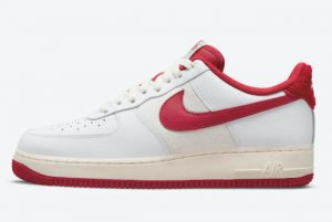 Latest Nike Air Force 1 '07 LV8 White Gym Red-Sail 2021 For Sale DO5220-161