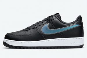 Latest Nike Air Force 1 Low HTML Black Blue Micro-Dot 2021 For Sale DQ0812-001