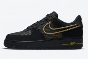 Latest Nike Air Force 1 Low Legendary Black Gold 2021 For Sale DM8077-001