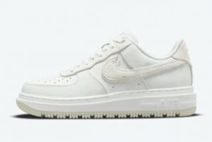 Latest Nike Air Force 1 Luxe Summit White Summit White Summit White-Light Bone 2021 For Sale DD9605-100