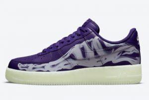 Latest Nike Air Force 1 Purple Skeleton Court Purple Court Purple-White 2021 For Sale CU8067-500