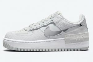 Latest Nike Air Force 1 Shadow White Silver 2021 For Sale DQ0837-100