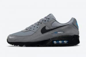 latest nike air max 90 grey blue black 2021 for sale do6706 002 300x201