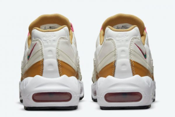 Latest Nike Air Max 95 Powerwall BRS White/Tan-Pink-Green 2021 For Sale DH1632-100-3