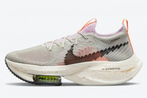 Latest Nike Air ZoomX AlphaFly Mediate Nature Flat Pewter/Light Arctic Pink-Light Cream-Black 2021 For Sale DB0129-001