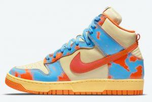 Latest Nike Dunk High 1985 Orange Acid Wash 2021 For Sale DD9404-800