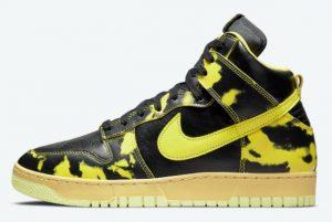 Latest Nike Dunk High 1985 Yellow Acid Wash Black Varsity Maize-Black 2021 For Sale DD9404-001
