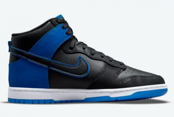 Latest Nike Dunk High Blue Camo Black Hyper Royal-Black-White 2021 For Sale DD3359-001-1