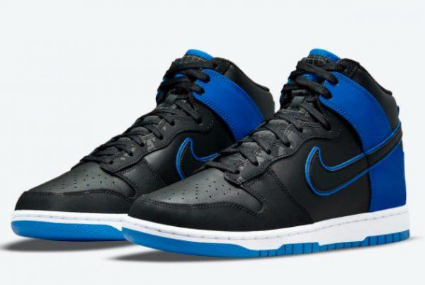 Latest Nike Dunk High Blue Camo Black Hyper Royal-Black-White 2021 For Sale DD3359-001-2