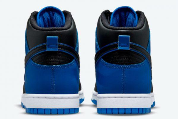 Latest Nike Dunk High Blue Camo Black Hyper Royal-Black-White 2021 For Sale DD3359-001-3