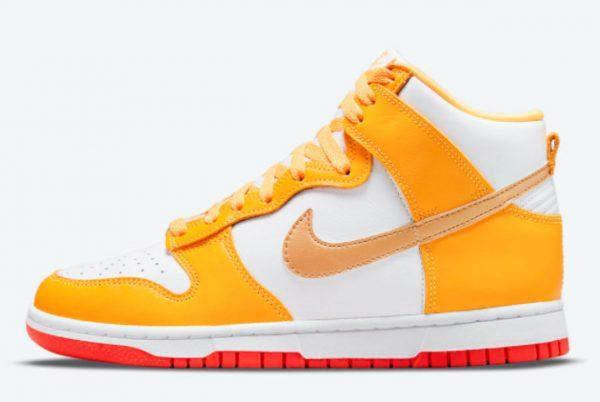 Latest Nike Dunk High Laser Orange 2021 For Sale DQ4691-700