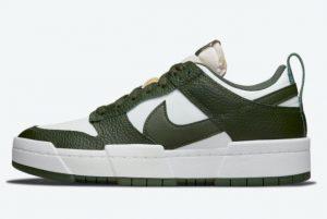 Latest Nike Dunk Low Disrupt Dark Green Dark Green White 2021 For Sale DQ0869-100