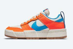 Latest Nike Dunk Low Disrupt Total Orange Sail Light Photo Blue-Total Orange 2021 For Sale CK6654-104