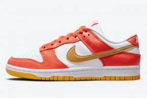 Latest Nike Dunk Low Golden Orange Orange White-Gold 2021 For Sale DQ4690-800