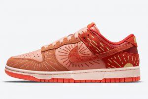 Latest Nike Dunk Low NH Winter Solstice Team Orange Orange-Crimson Bliss 2021 For Sale DO6723-800