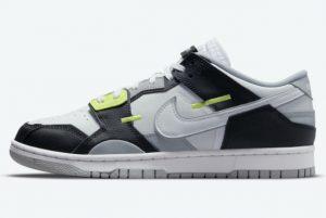Latest Nike Dunk Scrap Low Wolf Grey Black White-Wolf Grey-Lemon Twist 2021 For Sale DC9723-001
