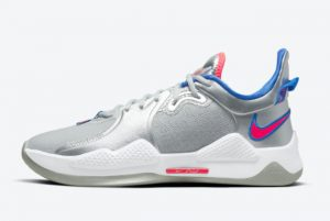 Latest Nike PG 5 Silver/Pink-Blue 2021 For Sale CW3143-005