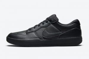 Latest Nike SB Force 58 Premium Triple Black Black Black-Black 2021 For Sale DH7505-001