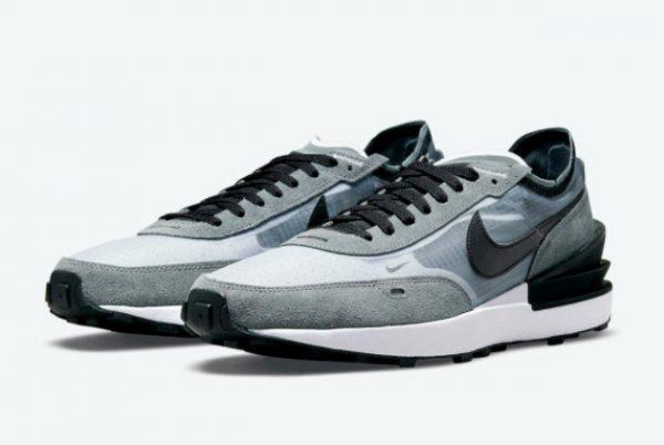 Latest Nike Waffle One Grey Black 2021 For Sale DD8014-002-1