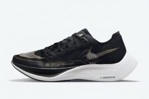 Latest Nike ZoomX VaporFly NEXT% 2 Black Gold 2021 For Sale CU4111-001