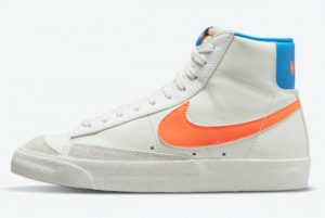 latest release nike blazer mid 77 white bright orange blue dq4692 100 300x201