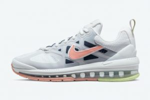 New Nike Air Max Genome WMNS White Grey-Pink-Green 2021 For Sale DC4057-100