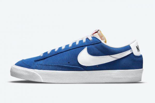 New Nike Blazer Low Team Blue Team Blue White 2021 For Sale DA7254-401