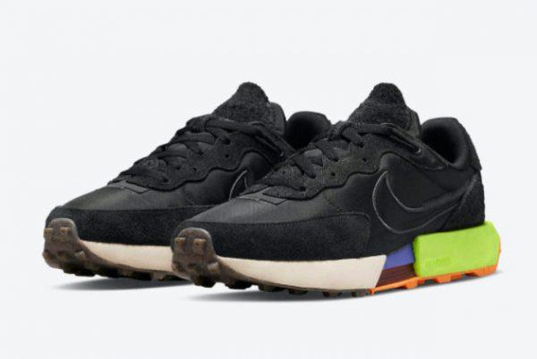 New Nike Fontanka Waffle Black/Black-Volt-Anthracite 2021 For Sale DC3579-001-2
