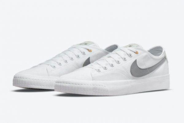 New Nike SB BLZR Court DVDL White/White-Barely Green-Wolf Grey 2021 For Sale CZ5605-100-1