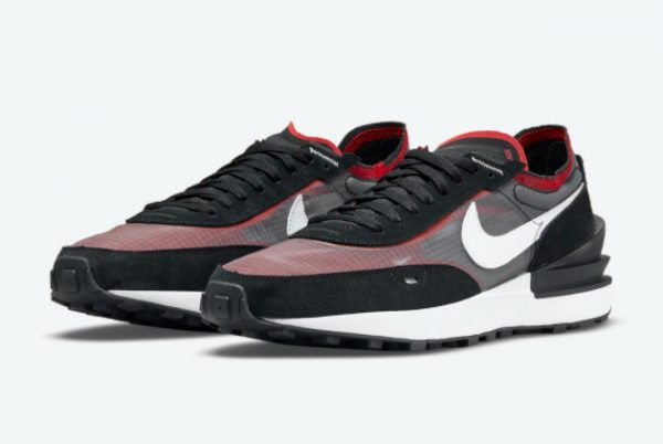 New Nike Waffle One Bred Black Red White 2021 For Sale DD8014-001-1