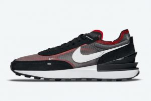 New Nike Waffle One Bred Black Red White 2021 For Sale DD8014-001