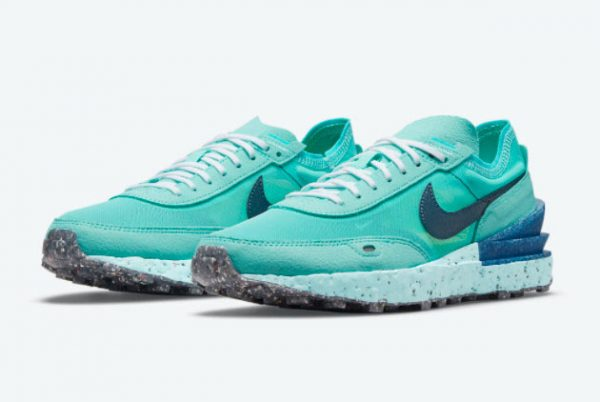 New Nike Waffle One Crater SE Turquoise Blue 2021 For Sale DJ9640-400-1