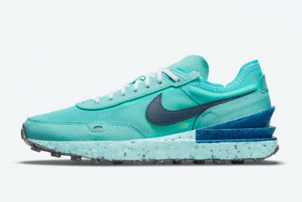 New Nike Waffle One Crater SE Turquoise Blue 2021 For Sale DJ9640-400
