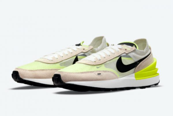 New Nike Waffle One Summit White/Black-Rattan-Volt 2021 For Sale DN4696-101-3