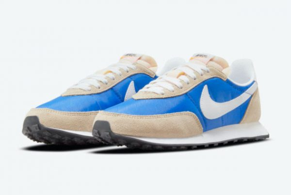 New Nike Waffle Trainer 2 Hyper Royal Hyper Royal White-Rattan-Sail 2021 For Sale DH1349-400-1