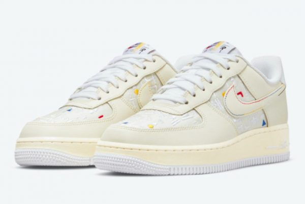 Cheap Nike Air Force 1 Low Hangeul Day Cream White 2021 For Sale DO2701-715-1