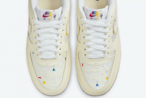 Cheap Nike Air Force 1 Low Hangeul Day Cream White 2021 For Sale DO2701-715-3
