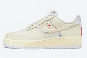 Cheap Nike Air Force 1 Low Hangeul Day Cream White 2021 For Sale DO2701-715