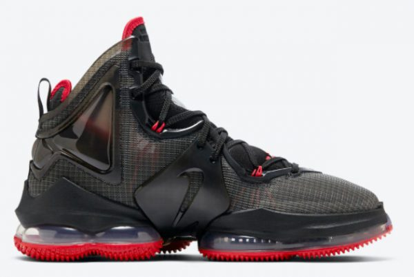 Cheap Nike LeBron 19 Bred Black Red 2021 For Sale DC9340-001-1