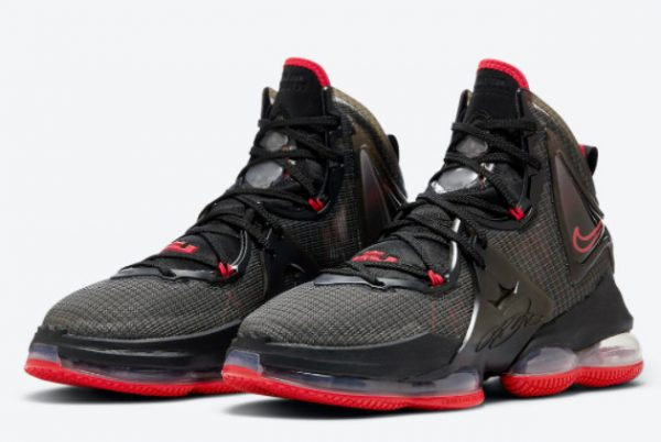Cheap Nike LeBron 19 Bred Black Red 2021 For Sale DC9340-001-2