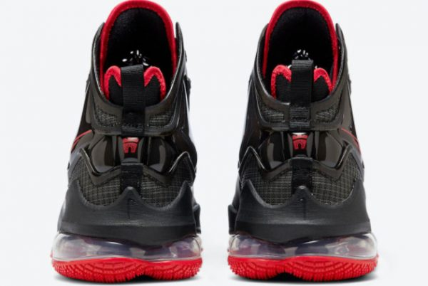 Cheap Nike LeBron 19 Bred Black Red 2021 For Sale DC9340-001-3