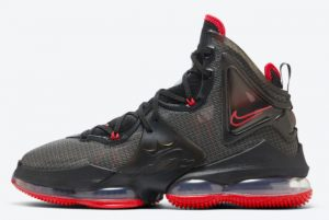 Cheap Nike LeBron 19 Bred Black Red 2021 For Sale DC9340-001