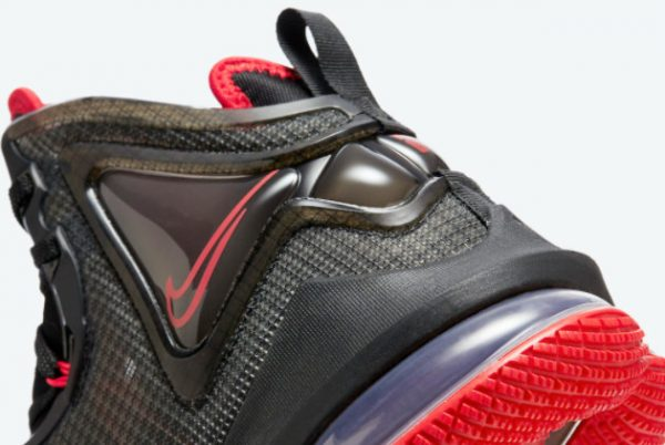 Cheap Nike LeBron 19 Bred Black Red 2021 For Sale DC9340-001-4