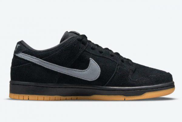 Cheap Nike SB Dunk Low Fog Black Black-Black-Cool Grey 2021 For Sale BQ6817-010-1