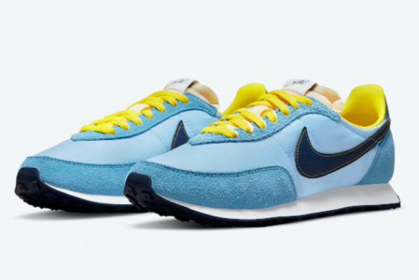 Cheap Nike Waffle Trainer 2 Psychic Blue Yellow Strike-Sail-Blue Void 2021 For Sale DM8323-400-1
