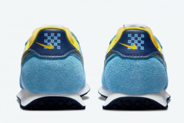 Cheap Nike Waffle Trainer 2 Psychic Blue Yellow Strike-Sail-Blue Void 2021 For Sale DM8323-400-3
