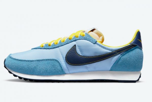 Cheap Nike Waffle Trainer 2 Psychic Blue Yellow Strike-Sail-Blue Void 2021 For Sale DM8323-400