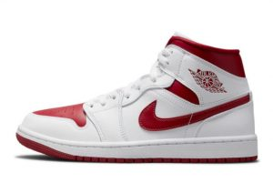 New Air Jordan 1 Mid Red Toe University Red White 2021 For Sale 554724-161