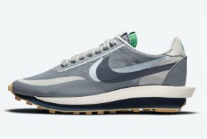 New Clot x Sacai x Nike LDWaffle Neutral Grey Obsidian-Cool Grey 2021 For Sale DH3114-001